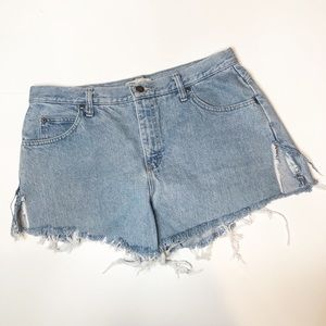 Vintage Lee High Waisted Jean Shorts Size 14 P